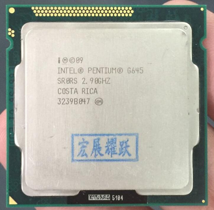 Intel CPU Pentium G645 3M Cache, 2.90 GHz LGA 1155 TDP 65W Desktop  Processor PC Computer CPU
