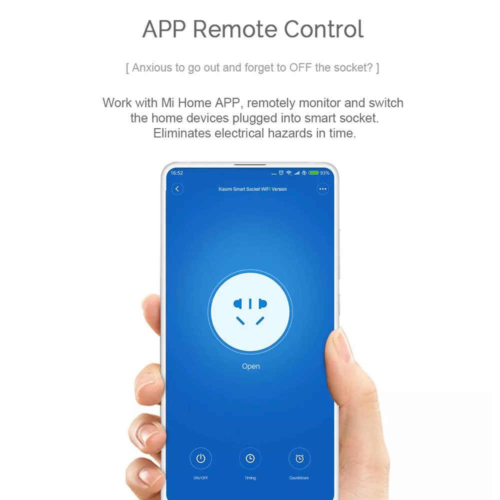 Оригинал Xiao mi Смарт Wi-Fi розетка mi розетка Wi-Fi версия Беспроводное дистанционное гнездо адаптера питание включение/выключение mi Home Smart APP