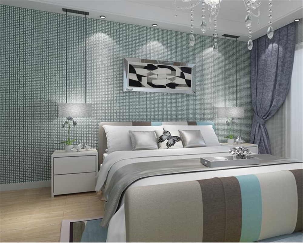 ФОТО Beibehang Pure Color Plain 3D Wallpaper Modern Simple Living Room Bedroom Background wallpaper for walls 3 d.papel de parede