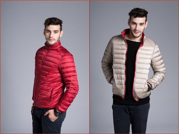 NewBang Brand Down Coat Male Ultra Light Down Jacket Men Double Side Feather Reversible Parka Windbreaker Lightweight Jackets