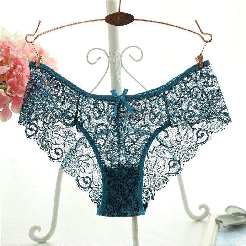 3389b8cc2 Plus Size S XL Fashion High Quality Women s Panties Transparent Underwear  Women Lace Soft Briefs Sexy Lingerie