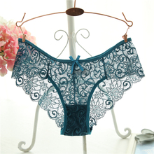 Plus Size S XL Fashion High Quality Womens Panties Transparent Underwear Women Lace Soft Briefs Sexy Lingerie cheap Polyester Spandex model WP04 Solid IXueJie Mid-Rise Easy package S M L XL Natural Color