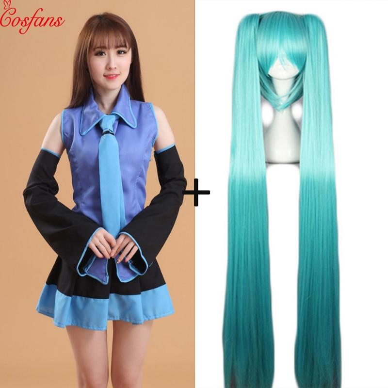Hatsune Miku Love Lve Is Wall Vocaloid Miku Hatsune Women Girl Adult Cosplay Costume Dress Set No Wig Halloween Fancy Ball Party