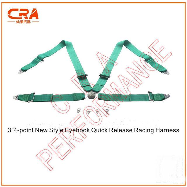 """(6 sets) Fábrica que Vende 3 """"4-point Nuevo Modelo Eyehook Cinturones de Seguridad de Liberación Rápida/Asiento De Coche De Carreras cinturones/Racing Harness"""