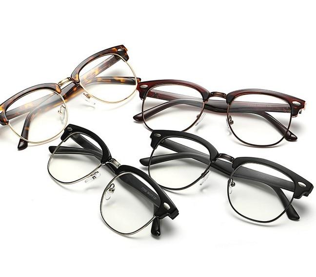J47 prekės ženklo dizaineris akinių rėmelis pusiau metalinis - Drabužių priedai - Nuotrauka 2