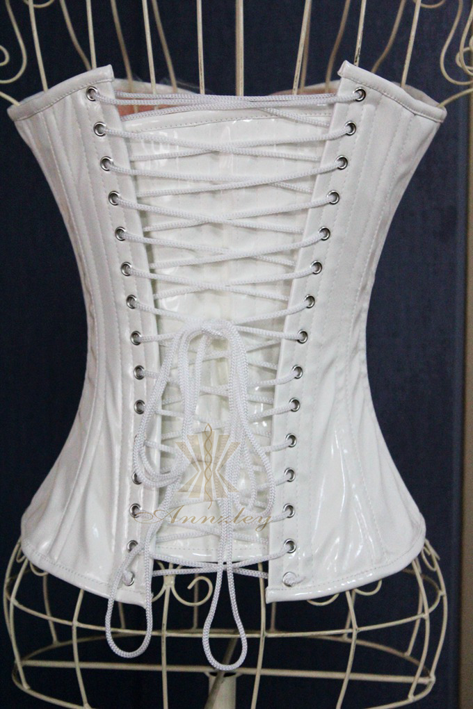 0556c70187c Steel Boned Women White Faux Leather Corset Top S M L XL XXL 3XL 4XL 5XL  6XL Plus Size Available-in Bustiers   Corsets from Underwear   Sleepwears  on ...