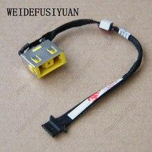 AC DC Jack wtyczki zasilania w Port ładowania gniazdo złącza z drutu kabel uprząż dla Lenovo Ideapad Yoga 2 serii 13 DC30100Q500