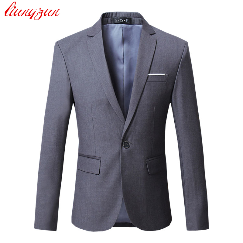 Men Dress Blazer Jacket Brand Slim Fit Casual Business Blazer Suit Male Plus Size Cotton Wedding ...
