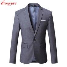 Men Dress Blazer Jacket Brand Slim Fit Casual Business Blazer Suit Male Plus Size Cotton Wedding Formal Suit Blazer SL-E391