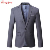 Men Dress Blazer Jacket Brand Slim Fit Casual Business Blazer Suit Male Plus Size Cotton Wedding Formal Suit Blazer SL E391
