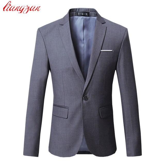 Vestido de Chaqueta de La Chaqueta de los hombres Marca Slim Fit Chaqueta Casual de Negocios Traje Masculino Más Tamaño Algodón de La Boda Traje Formal Blazer SL-E391