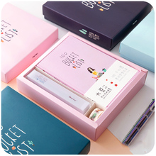Cute Kawaii Korean Stationery Hand books 100 Bucket TO DO List Notebook A5 Planner Diary Journal Agenda Filofax Notepad Gift Set