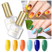 BORN PRETTY 6ml Bright Color Gel Nail Polish Summer Series Pure Manicure Soak Off UV Lacquer Varnish