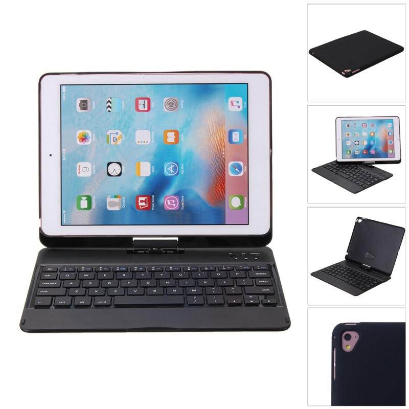 360 Adjustable For Apple For iPad Air 2 Keyboard New For iPad Air 2 Case Shockproof Cover 9.7inch Keyboard Case Cover For iPad 6 protective silicone keyboard cover for apple macbook pro air purple