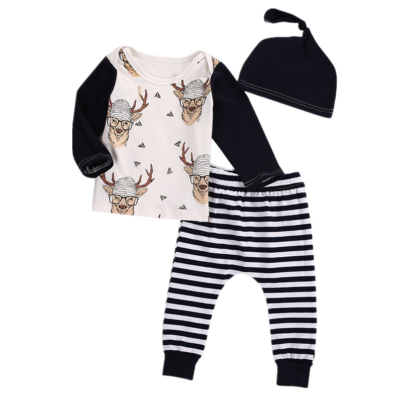 Infant Toddler Newborn Baby Boy Girl Casual Clothes Deer T ...