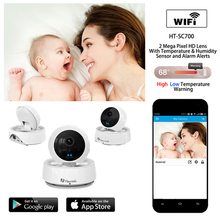 Wireless IP Wifi Camera Home Security Cameras Baby Monitor with Temperature Sensor One Key Wi-fi Configuration Motion Detection