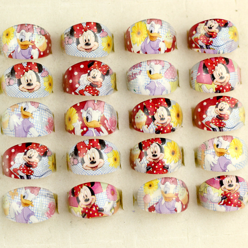 5pcs/lot Disney Princess Cartoon Children Ring Minnie Mouse Accessories Girl Children Day Gift Birthday Mickey Kid Cosmetic Toy Dolls Accessories Toys & Hobbies