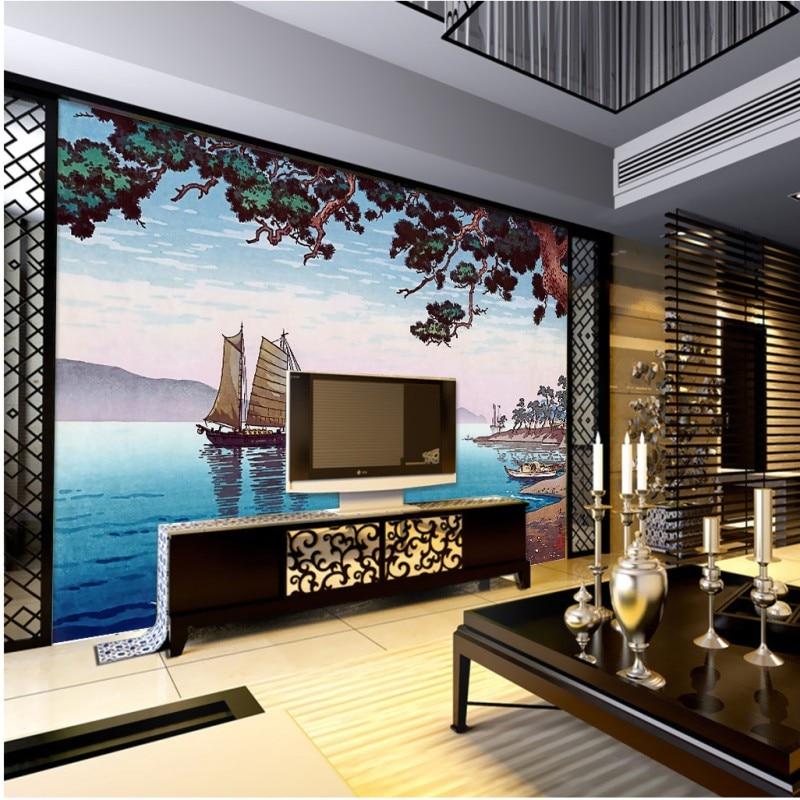 Online kaufen gro handel japan tapete aus china japan tapete gro h ndler - Japanisches wohnzimmer ...