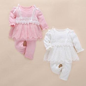 9b432e9d2 Recién nacido bebé niña ropa bebé mamelucos lindo Rosa encaje mono bebé  recien nacido rupas infantil menina niño mameluco