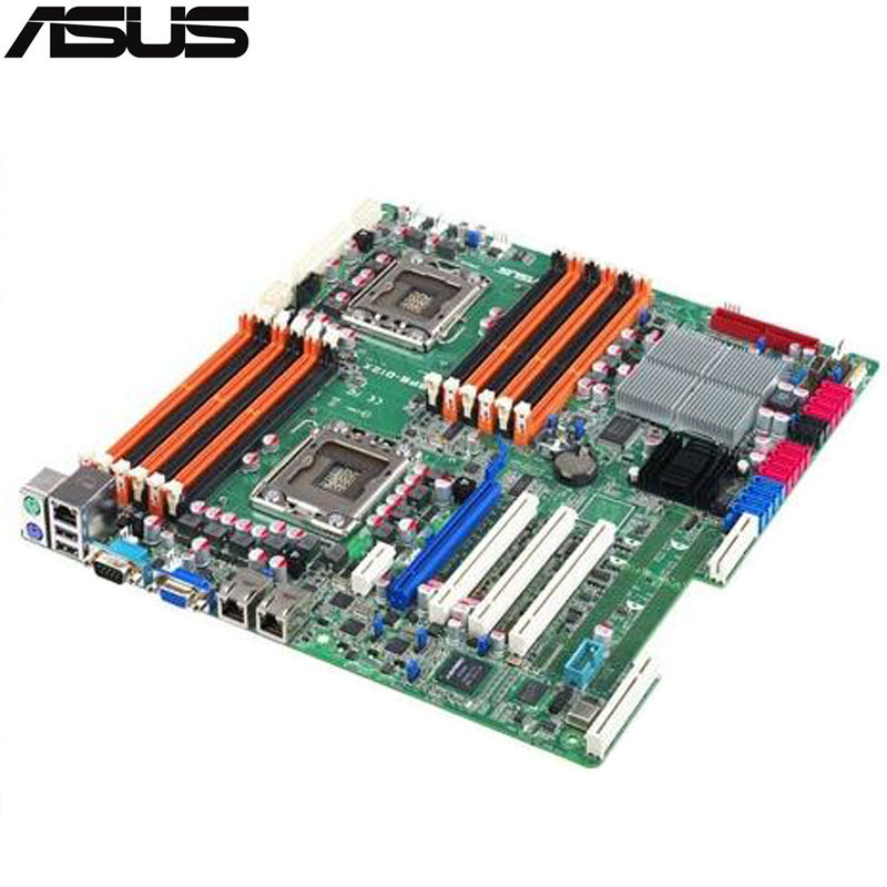original Used Server motherboard For ASUS Z8PE D12 5520 Support 1366 W5500/X5500/E5500/L5500 Maximum DDR3 96GB 12*SATAII ATX