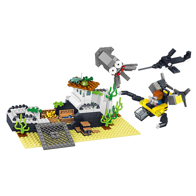 351pcs Latest my World series  Building Blocks Brick My World Zombie Defense Compatible LegoINGLYS Minecrafter Toys for Kids lele my world power morse train building blocks kits classic educational children toys compatible legoinglys minecrafter 541 pcs