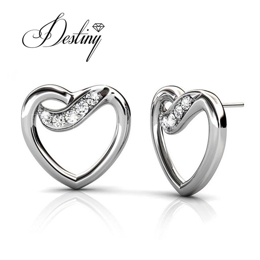 417a2b720532 Destiny joyería embellecido con cristales de Swarovski pendientes 925  joyería de plata esterlina pendientes DE0041