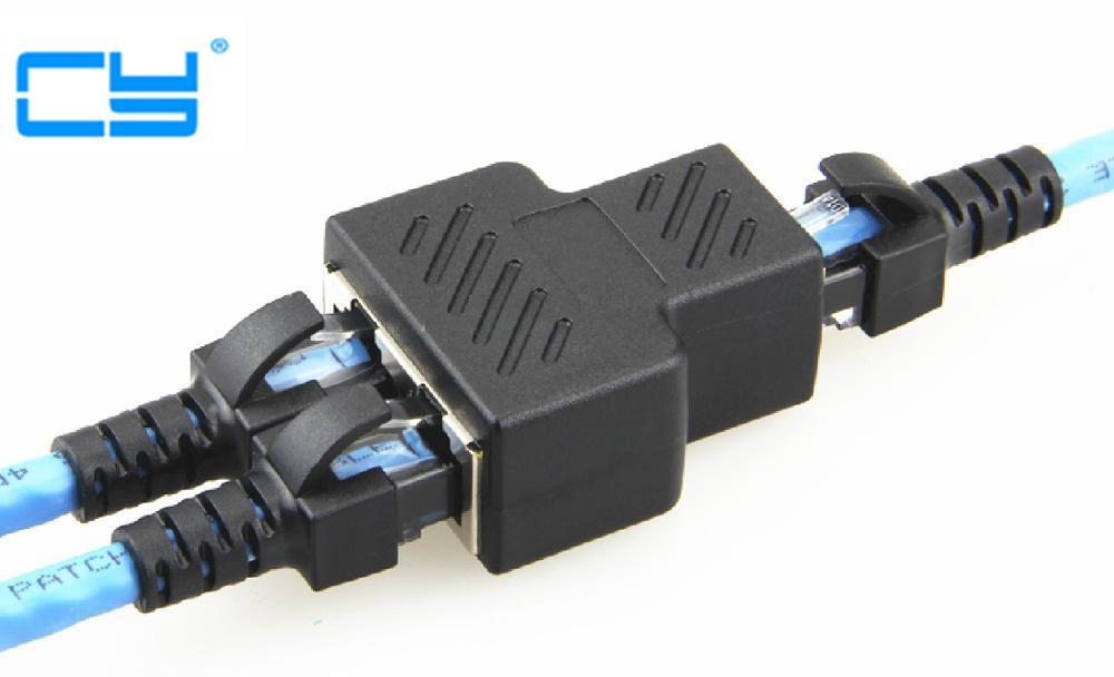 RJ45 Сплиттер разъемы от 1 до 2 способов Ethernet кабели интерфейс RJ-45 разъем адаптер 8P8C концентратор сети LAN интернет PC