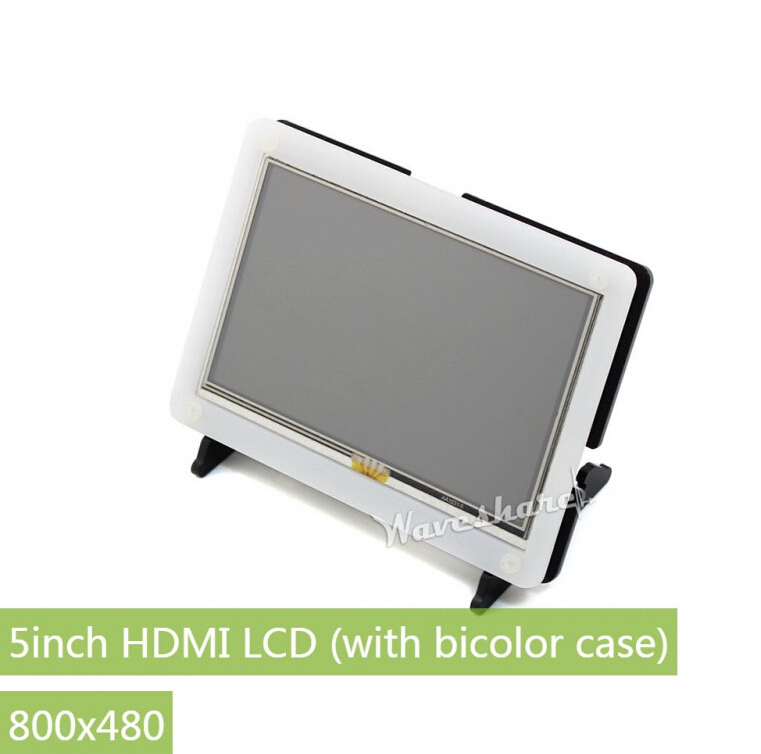 Waveshare 5 inch 800 480 Resistive Touch Screen bicolor case HDMI interface Designed for Raspberry Pi