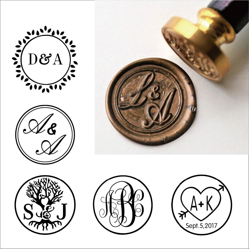 Custom Rustic Two Initials Wax Seal Stamp,Custom Wax Seal Stamp Kit,personalised Wedding Invitation Seals,wedding Gift,