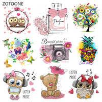ZOTOONE Nette Cartoon Tier Patches Wärme Transfer Eisen auf Patch für T-Shirt Kinder Geschenk DIY Kleidung Aufkleber Wärme Transfer G