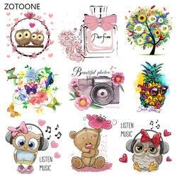 ZOTOONE/милые нашивки в виде животных с героями мультфильмов, термопередача железа на патч для футболки, детский подарок, DIY наклейки для