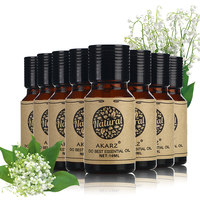 AKARZ Famous brand value meals Orange Lemon Clary Sage Verbena Jasmine Osmanthus Sandalwood Rosemary essential Oils 10ml*8