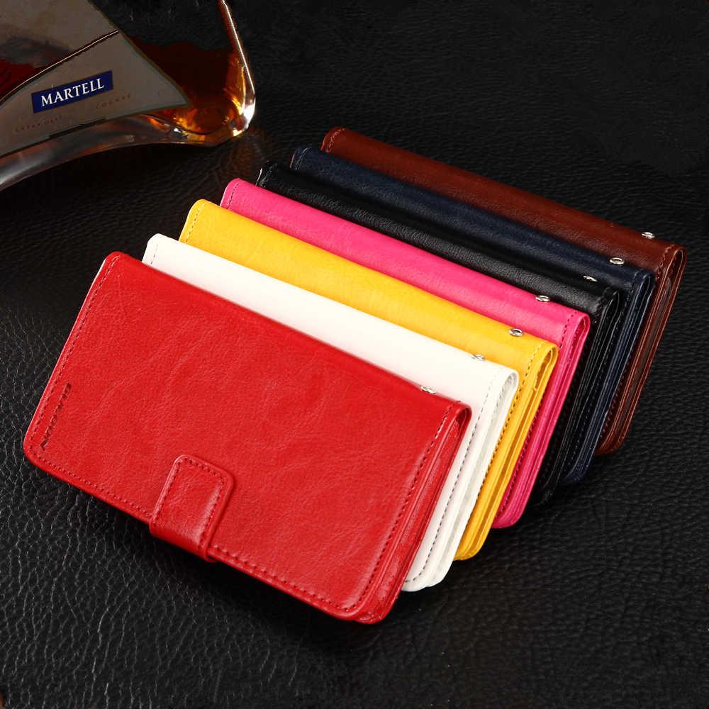 GUCOON Vintage étui portefeuille pour Beeline Smart 3 4.0 pouces PU cuir rétro Flip couverture magnétique coques tendance béquille sangle