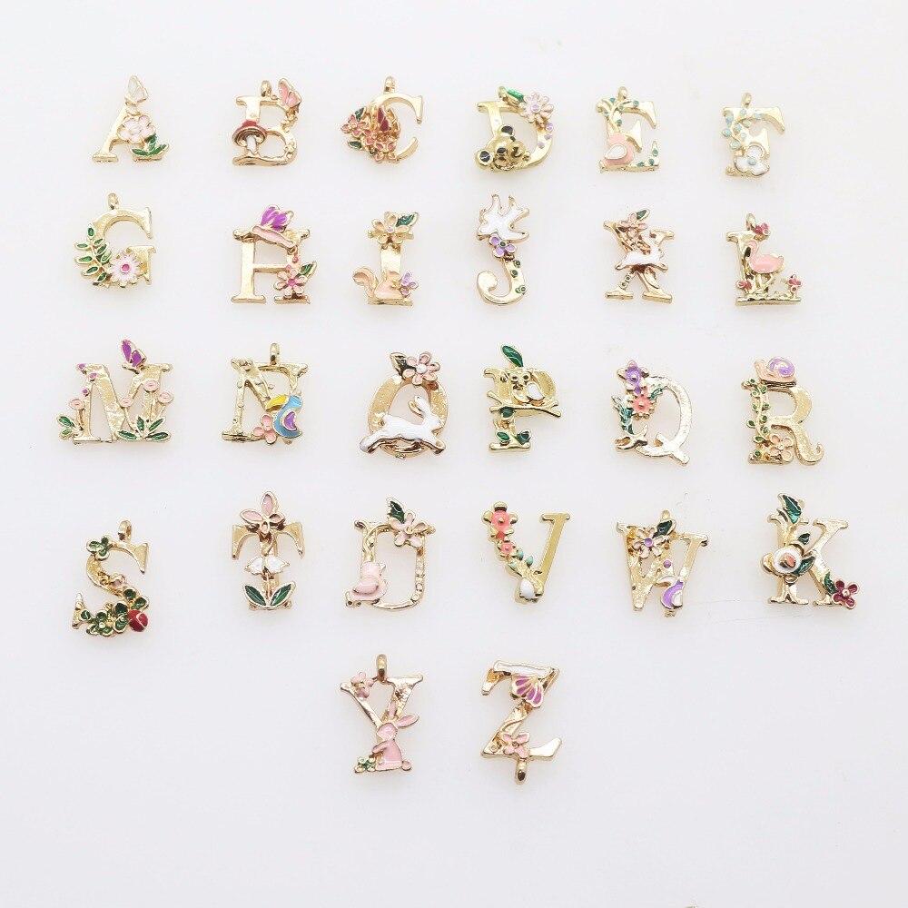 Fashion Alloy Alphabet Pendant 1pcs 26 Letters Initial Key Pendant Chains Unisex Bag Pendant Jewelry Ornament