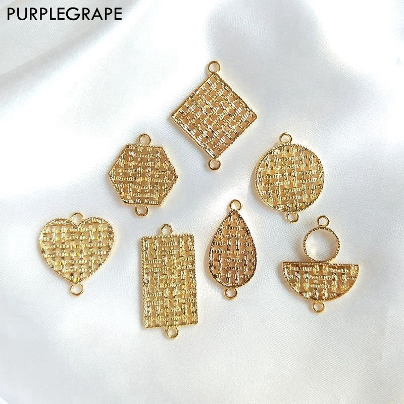 8pcs Geometric pendant diy earrings jewelry accessories materials handmade alloy grid fashion fine retro minimalism female