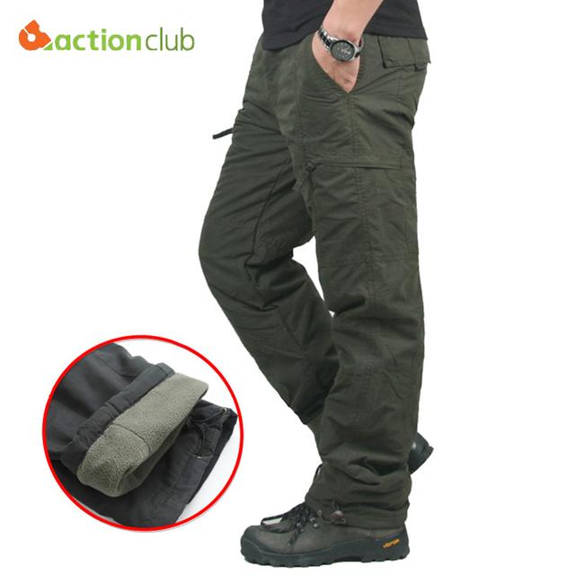 Nueva Llegada del Invierno de Los Hombres Calientes de Algodón Holgados Pantalones Para Hombres de Camuflaje Táctico Militar Más Tamaño