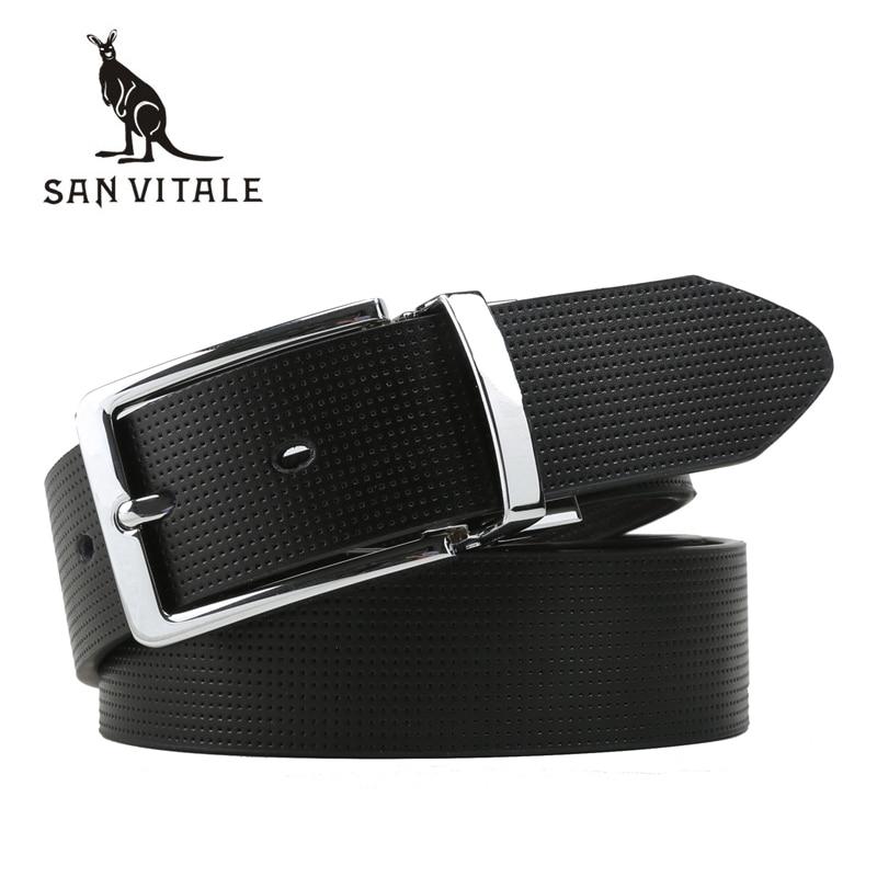Genuine Leather Men Belts Fashion New designer Rotatable Pin Buckle belt Luxury For Men Luxury Brand Waistband Strap Men's Belt