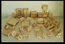 Здания dollhouse образования мебели миниатюрный кукольный головоломки модель деревянные дом мебель