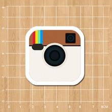 Instagram Logo Notebook/refrigerator/skateboard/trolley case/backpack/Tables/book sticker PVC sticker