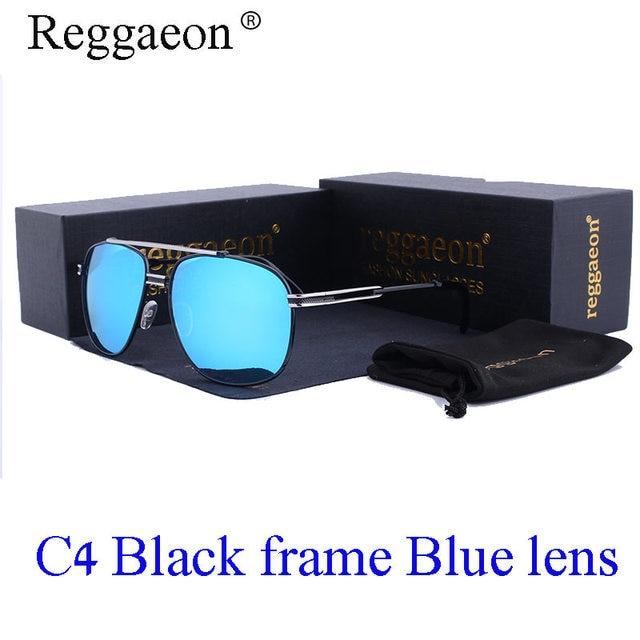 123dc5e22a 2017 REGGAEON Fashion oversize luxury men s brand design square sunglasses  high quality retro female Oculos De Sol metal frame