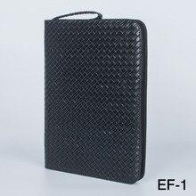 حافظة قلم حبر سعة كبيرة PU جلد أسود لون القهوة 48 فتحة حقيبة أقلام حقيبة