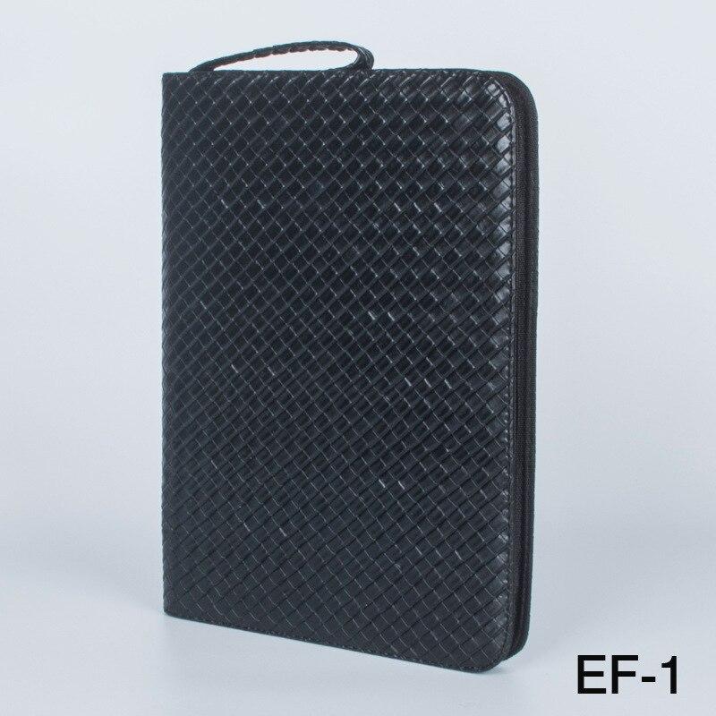 大容量万年筆ケース Pu レザーブラックコーヒー色 48 スロットペンポーチバッグ鉛筆バッグ   -