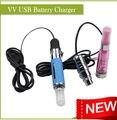 2 unids/lote el más caliente USB eGo VV Passthrough voltaje Variable batería fit para todos eGo / 510 rosca atomizador envío gratis
