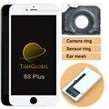 10 unids envío de dhl alibaba china teléfono móvil lcd para iphone 6 s Plus Pantalla LCD con Pantalla Táctil Digitalizador de Reparación (anillo de cámara)