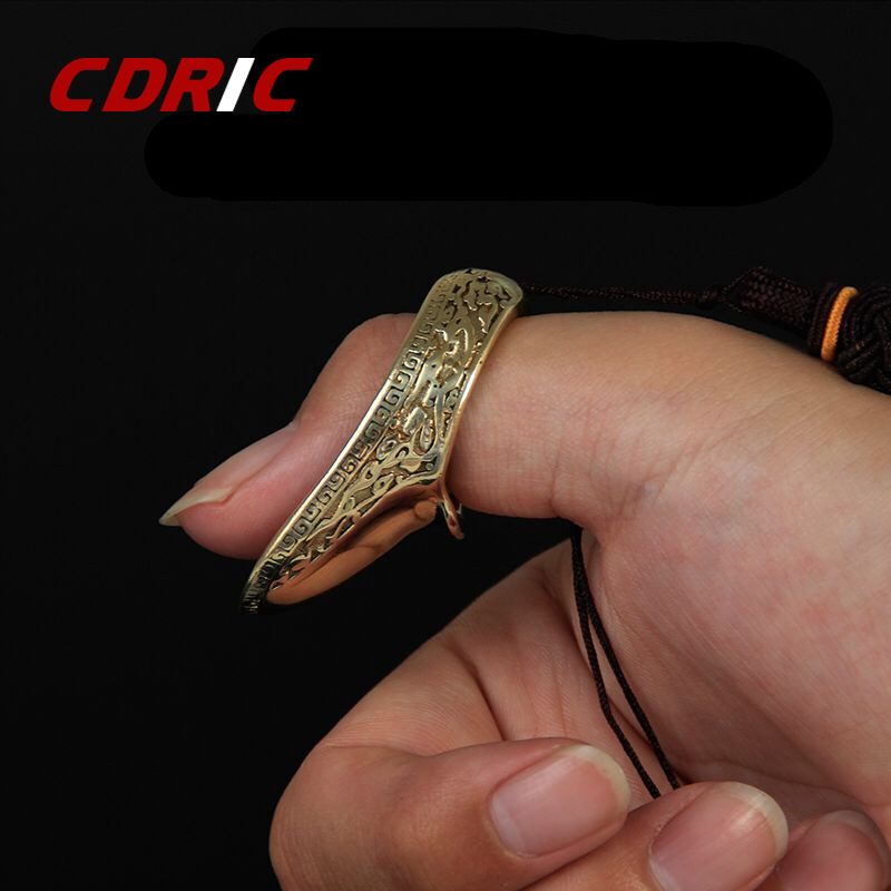 16-23mm Finger Guard Brass Shooting Ring Catapult Sports Finger Protective Gear Traditional Thumb For Outdoor Hunting Shooting