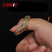 16 23mm Finger Schutz Messing Schießen Ring Katapult Sport Finger Schutz Getriebe Traditionellen Daumen für Outdoor Jagd Schießen