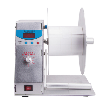 1pc BT-H-115 Digital Automatic Label Rewinder Clothing tags barcode Stickers rewinding machine volume label FOR Supermarket