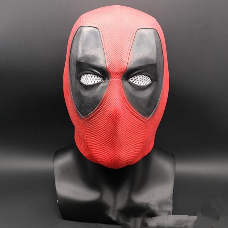 Deadpool 2 Mask X-Men Halloween Full Face Latex Helmet Cosplay Party Props Adult