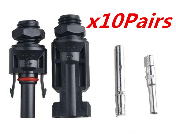 10Pairs X MC4 Solar Panel Mounting Connector,MC4 Install Mount Solar Kit Connect