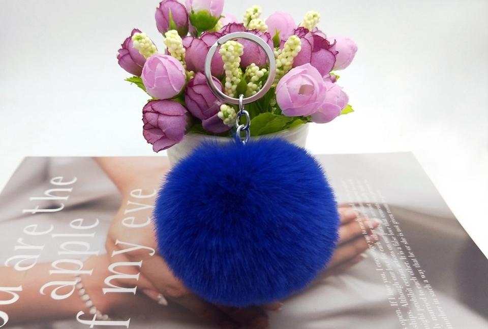 HTB1ofRehYArBKNjSZFLq6A dVXaI - 20 Colors Fluffy Fur Pom Pom Keychains Soft Faux Rex Rabbit Fur Ball Car Keyring Pompom Key Chains Women Bag Pendant Jewelry Diy